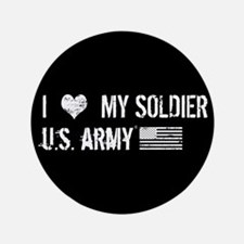 "U.S. Army: I Love My Soldie 3.5"" Button (100 pack)"