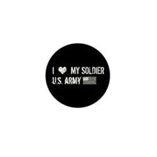 I Love My Soldier Mini Button (10 pack)