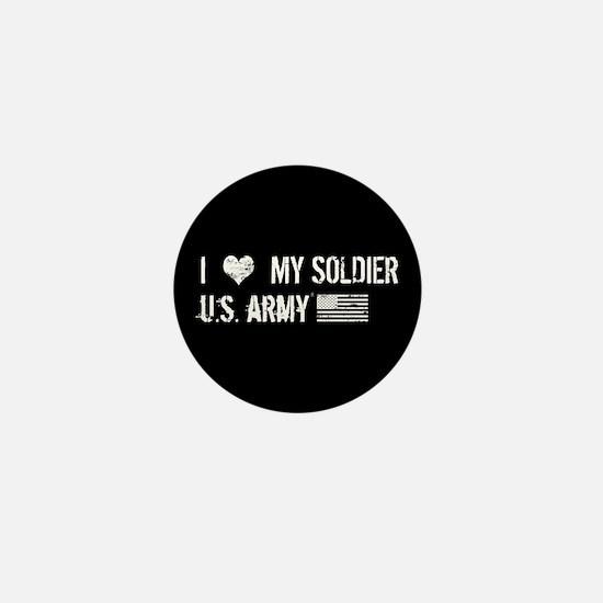 U.S. Army: I Love My Soldier Mini Button