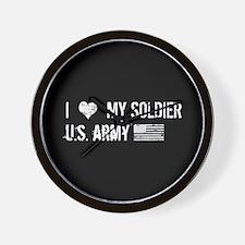 U.S. Army: I Love My Soldier Wall Clock