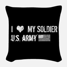 U.S. Army: I Love My Soldier Woven Throw Pillow