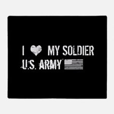 U.S. Army: I Love My Soldier Throw Blanket