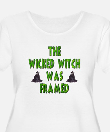Wicked Witch Was Framed PlusSize Scoop Neck TShirt