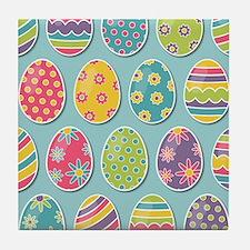Easter Eggs Tile Coaster