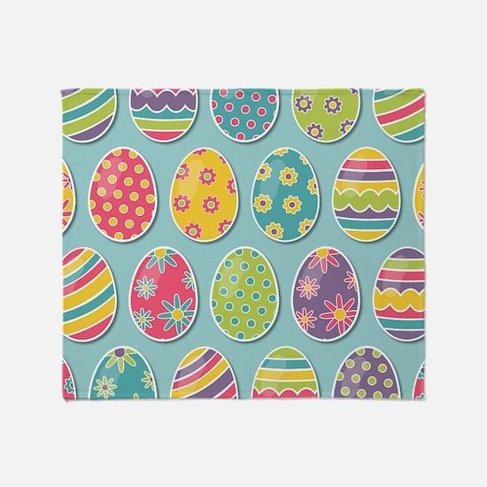 Easter Eggs Throw Blanket