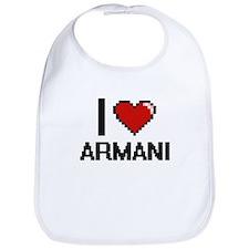 I Love Armani Bib