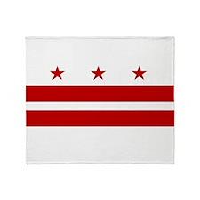 Washington D.C. Flag Throw Blanket