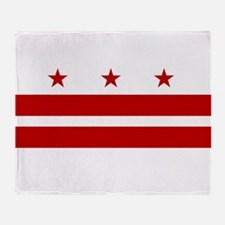 Washington D.C. Flag Throw Blanket
