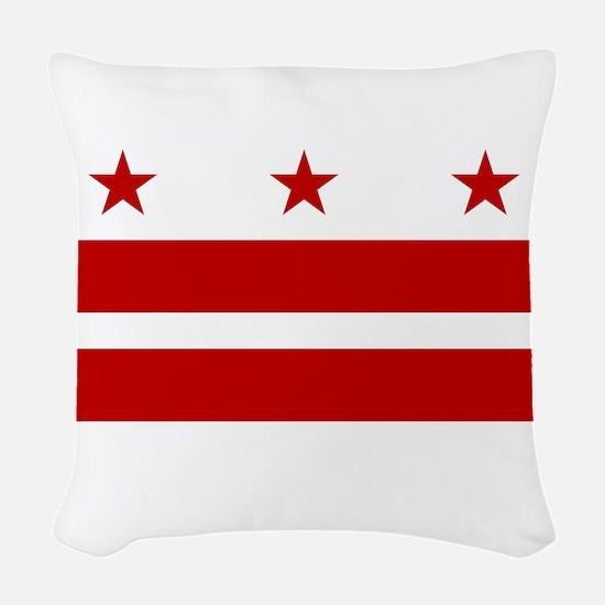 Washington D.C. Flag Woven Throw Pillow