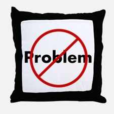 Funny Problem Throw Pillow