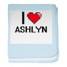 I Love Ashlyn baby blanket
