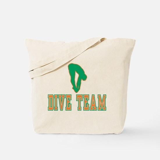 Green Dive Team Logo Tote Bag