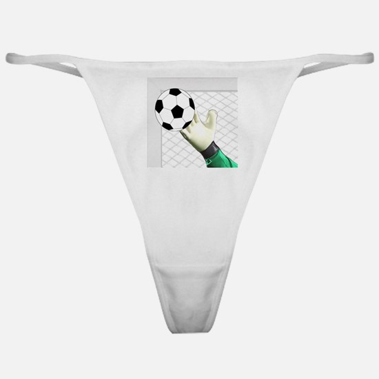 Cute Soccer bicycle kick Classic Thong