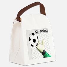 Cute Soccer goalie Canvas Lunch Bag