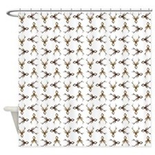 STAG HEADS Shower Curtain