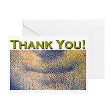 Mona Lisa Smile THANK YOU Greeting Card