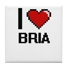 I Love Bria Tile Coaster