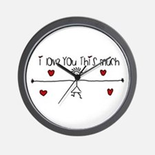 I Love You This Much Wall Clock