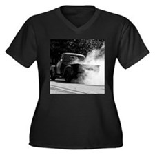 Smokin Truck Women's Plus Size V-Neck Dark T-Shirt