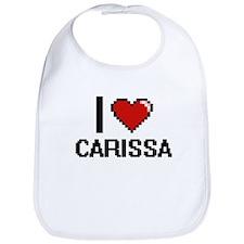 I Love Carissa Bib