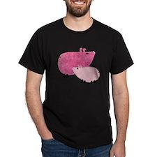 Two Little Applique Piggies T-Shirt