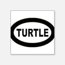 """Cute Turtle Square Sticker 3"""" x 3"""""""