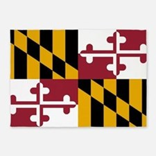 State Flag of Maryland 5'x7'Area Rug