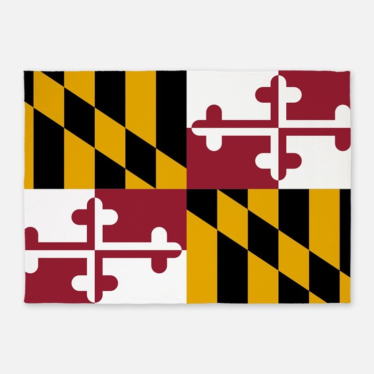 State Flag Of Maryland 5 X7 Area Rug
