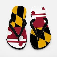 State Flag of Maryland Flip Flops
