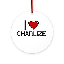 I Love Charlize Ornament (Round)