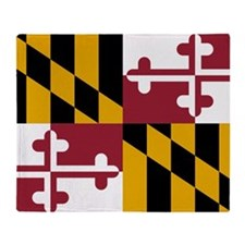 State Flag of Maryland Throw Blanket