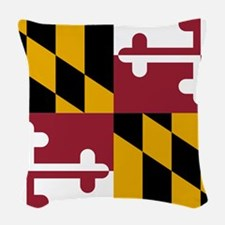 State Flag of Maryland Woven Throw Pillow