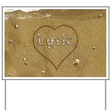 Lyric Beach Love Yard Sign