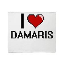 I Love Damaris Throw Blanket