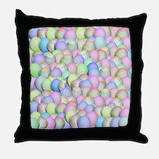 Unique Easter eggs Throw Pillow