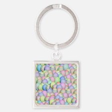 Funny Easter eggs Square Keychain