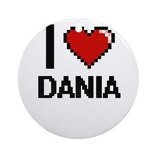 I Love Dania Ornament (Round)