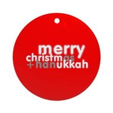 CHRISMUKKAH Round Ornament