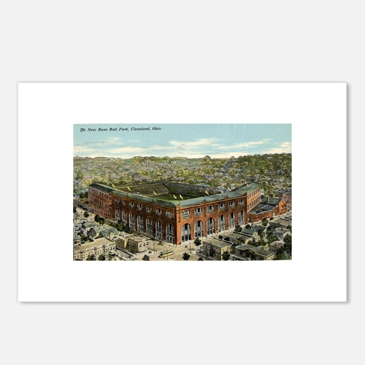 League Park Baseball Stadium Postcards (Package of