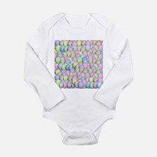 Pastel Colored Easter Eggs Body Suit