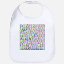 Pastel Colored Easter Eggs Bib