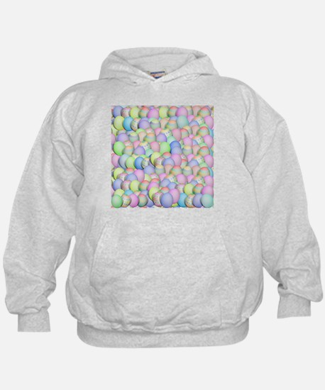 Pastel Colored Easter Eggs Hoodie