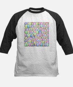 Pastel Colored Easter Eggs Baseball Jersey