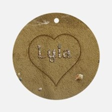 Lyla Beach Love Ornament (Round)