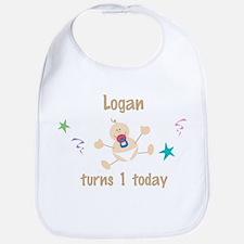 Logan turns 1 today Bib