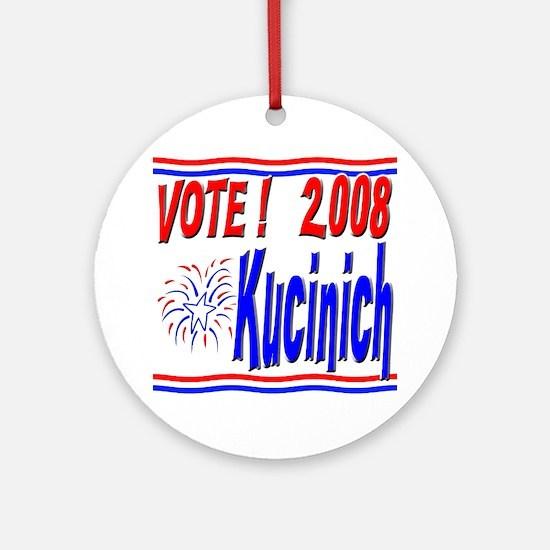 Vote Kucinich Ornament (Round)
