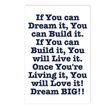 Dream, Build, Live, Love Postcards (Package of 8)