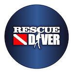 Rescue 3 Round Car Magnet