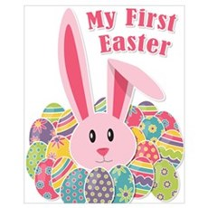 My First Easter - Bunny & Eggs Canvas Art