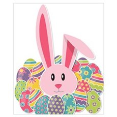Easter Bunny & Eggs Poster
